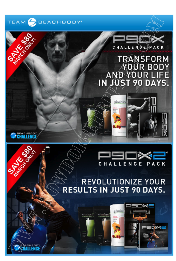 P90X and P90X2 March Promotion – Get Yours, Get Ripped