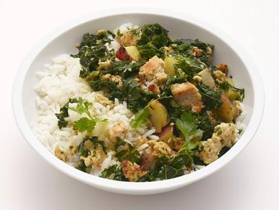 Kale Turkey Rice Bowl