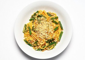 Spaghetti Red Curry Green Beans Peanuts