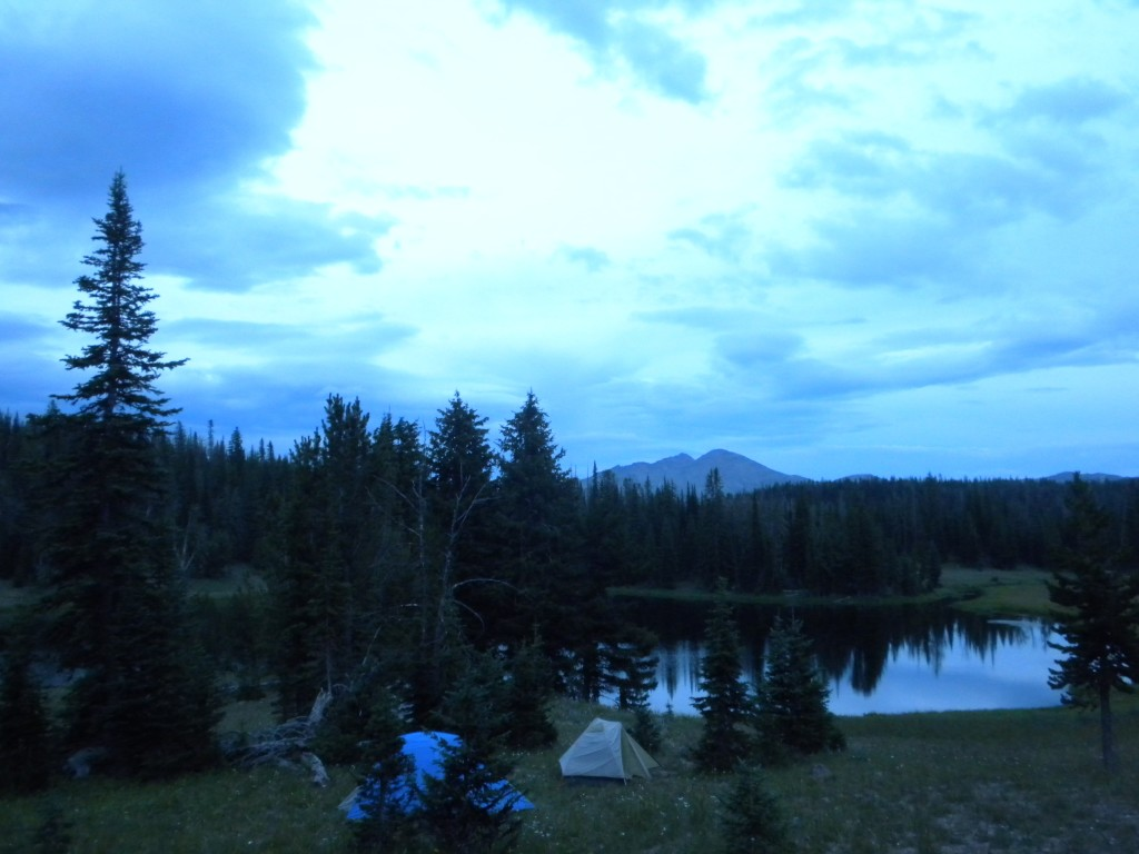 Tent High Lake