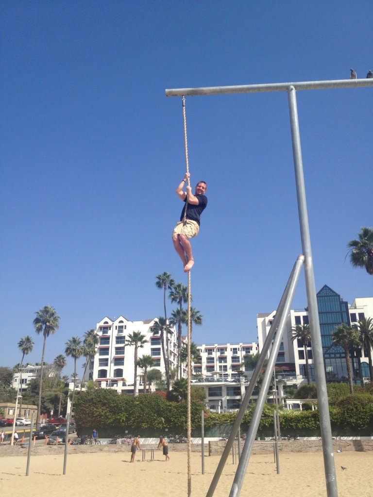 Mike Rope Climb Muscle Beach