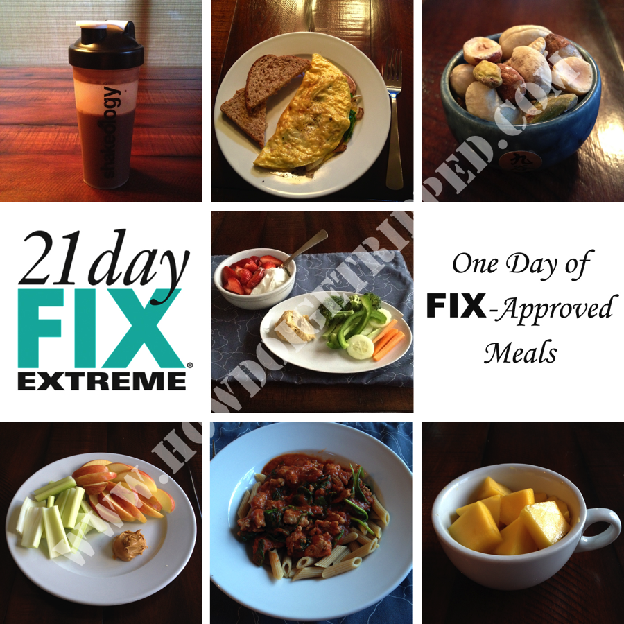 21 Day Fix Extreme Nutrition Day
