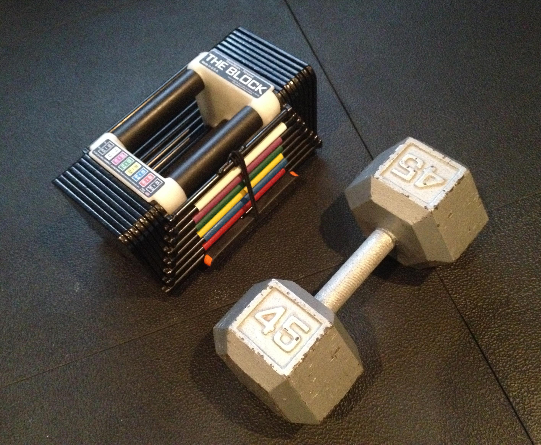 Powerblock 45 vs. 45 Pound Dumbbell
