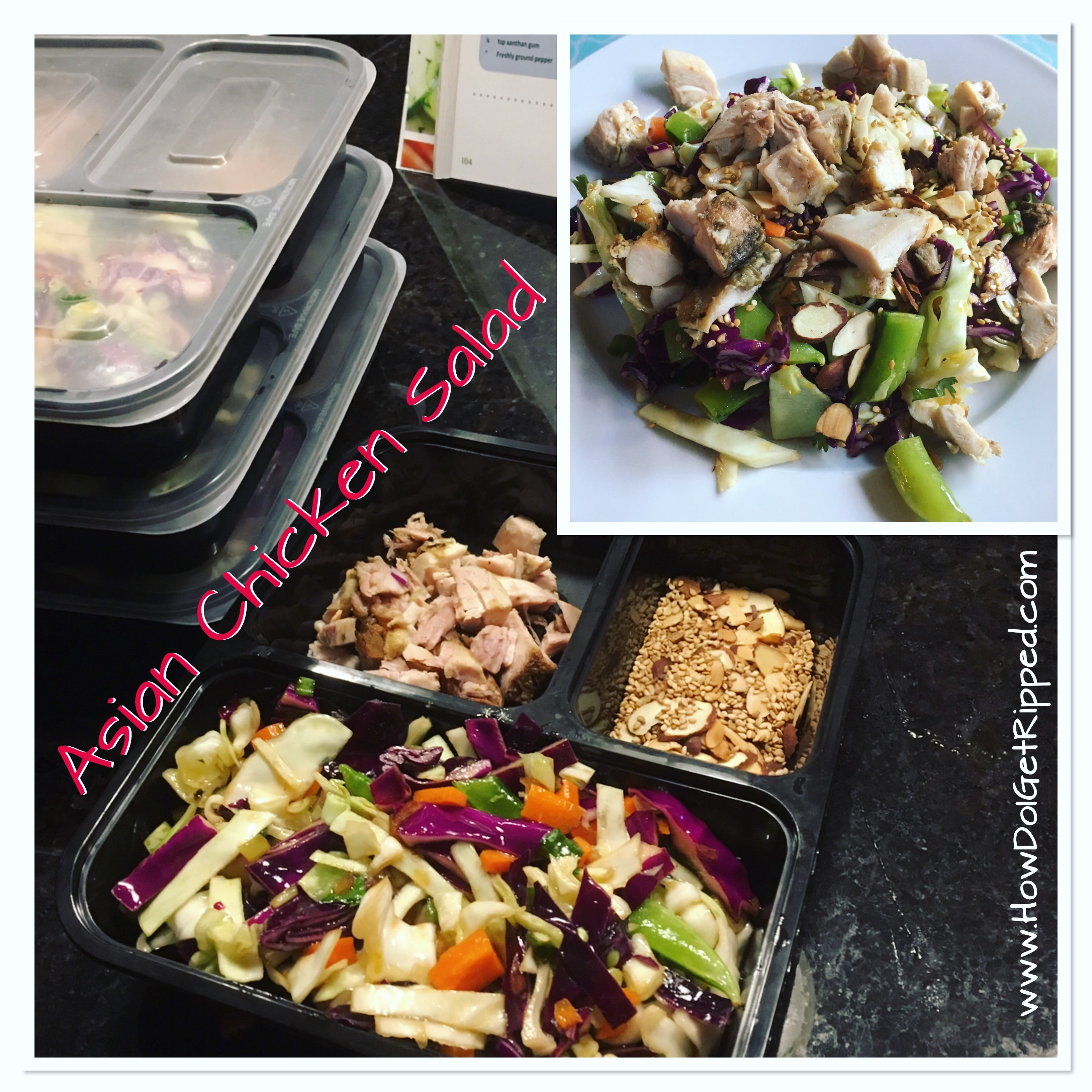 Healthy Asian Chicken Salad Portion Control