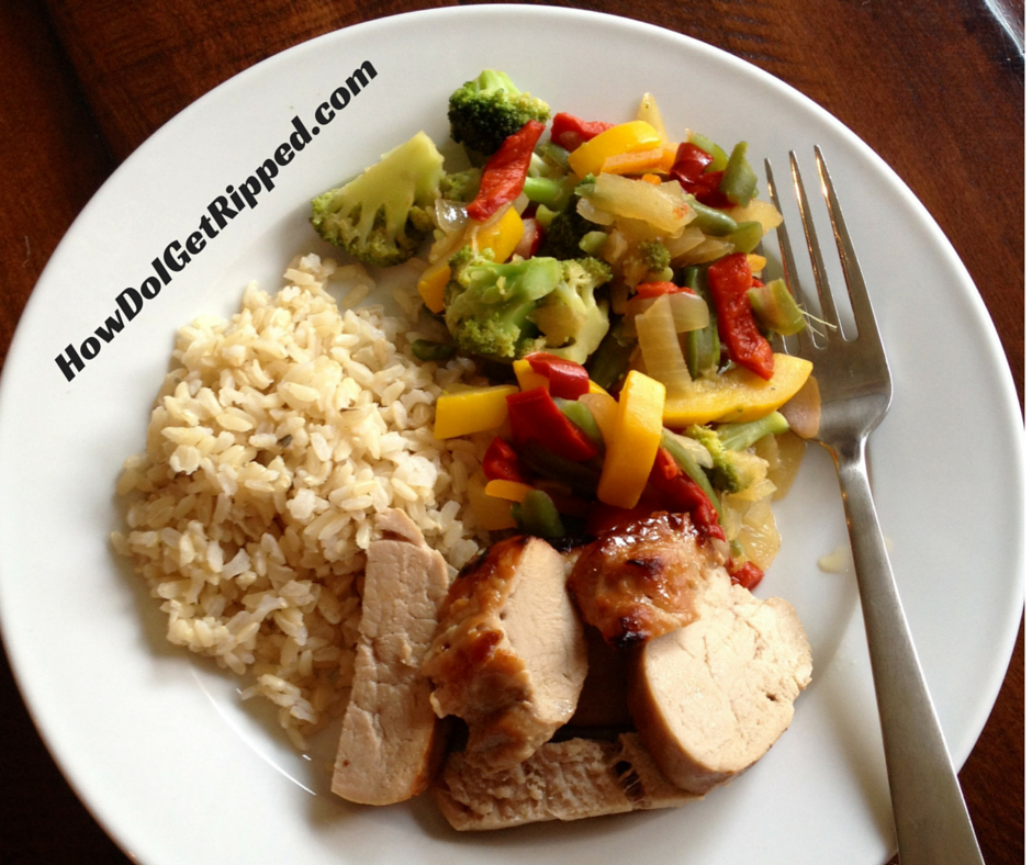 Roast Pork with Stir Fry Veggies