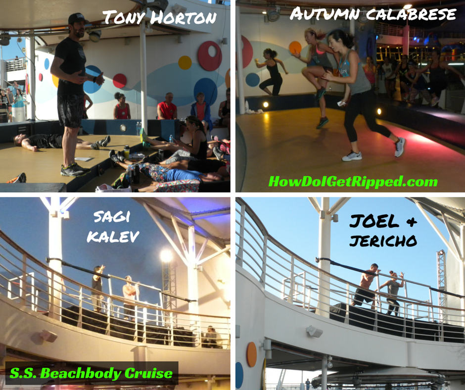 Live Trainer Workouts S.S. Beachbody Cruise Tony Horton, Autumn Calabrese, Sagi Kalev, Joel Freeman and Jericho