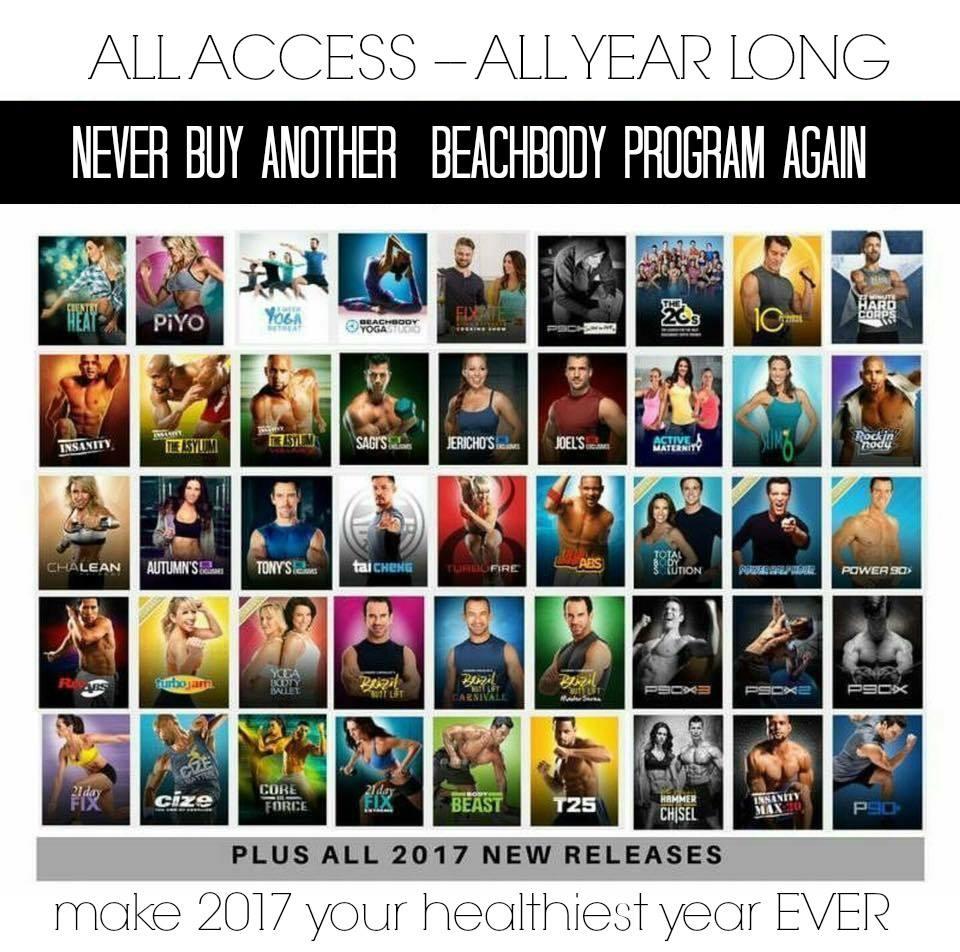 All Access Beachbody on Demand Programs 2017