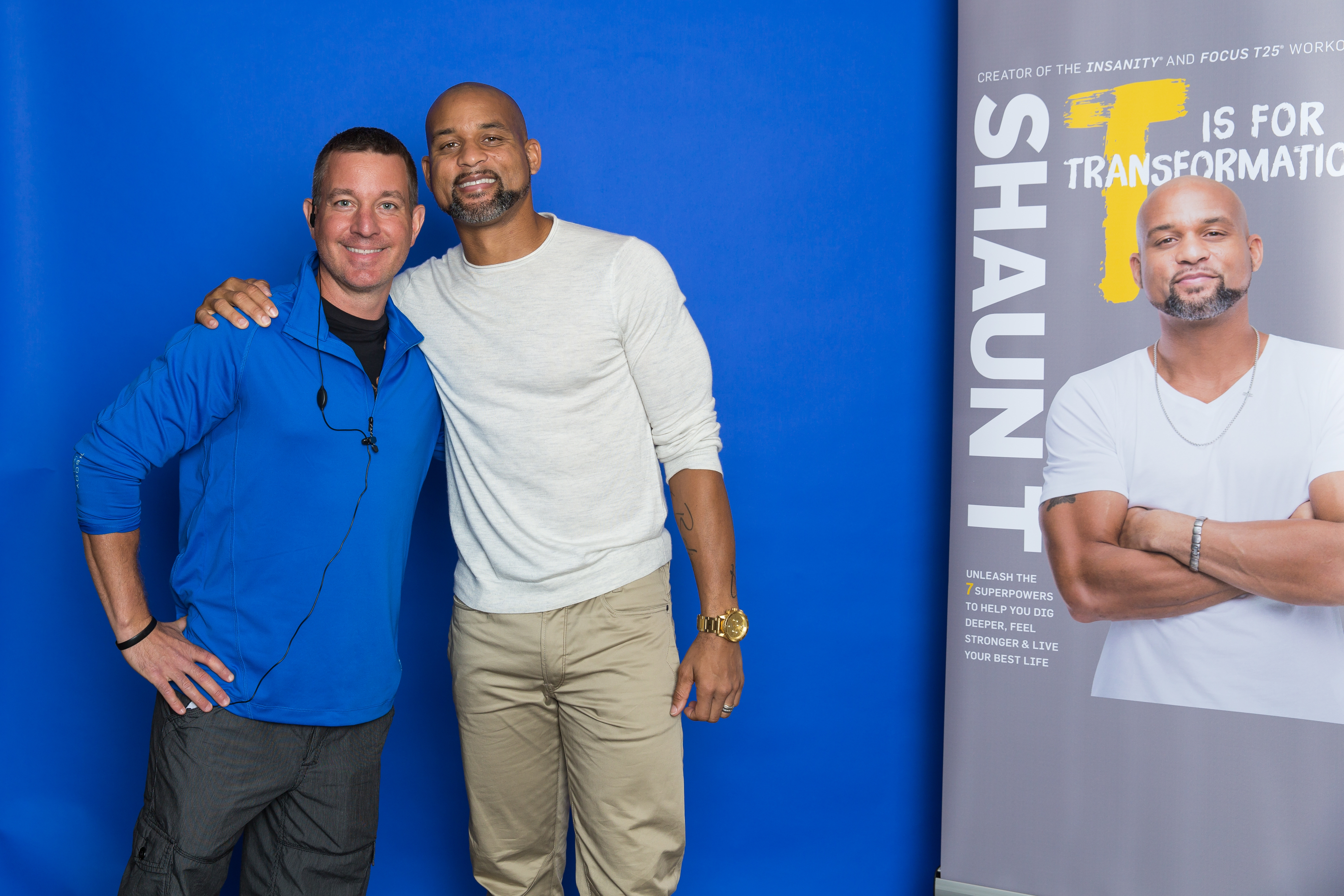 Shaun T and Mike September 2017