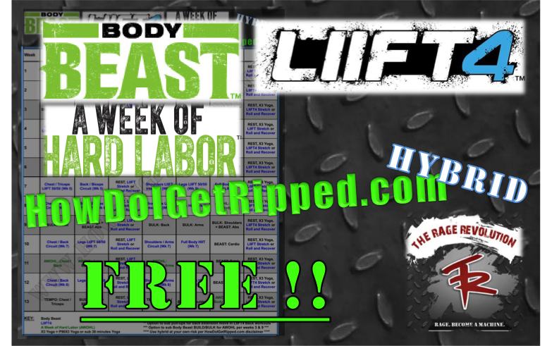FREE LIIFT4 Body Beast Hybrid | How Do I Get Ripped?